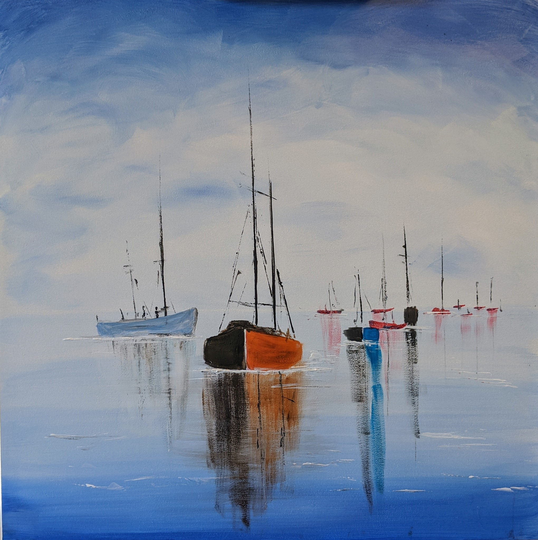 #120 - 19th October 2020 7pm - Boats - nJoyArt ONLINE Painting Session
