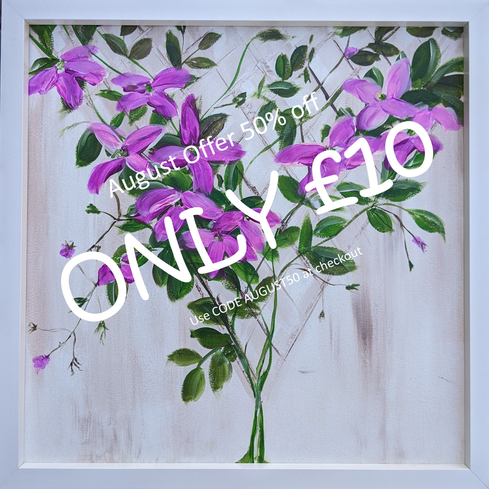 x #102 - 4th August  2020 7pm - Clematis - nJoyArt ONLINE Live Session