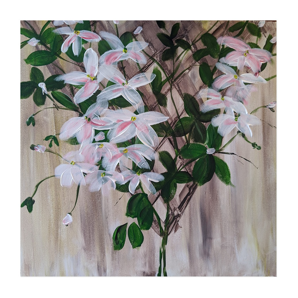 x #174 - 4th March 2021 7pm - Clematis - nJoyArt ONLINE Painting Session