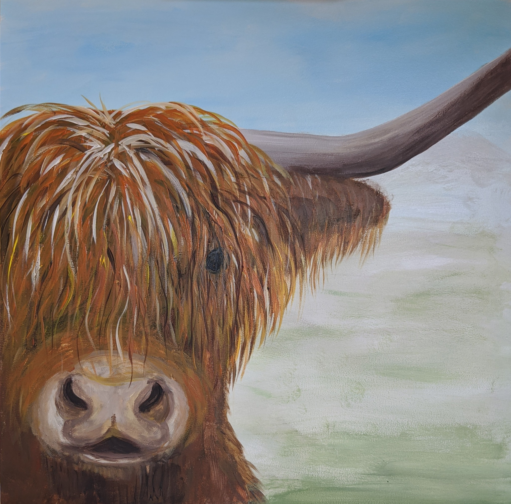 #123 - 3rd Nov 2020 7pm - Highland Coo – nJoyArt Painting Session at The Griffin, Rugby