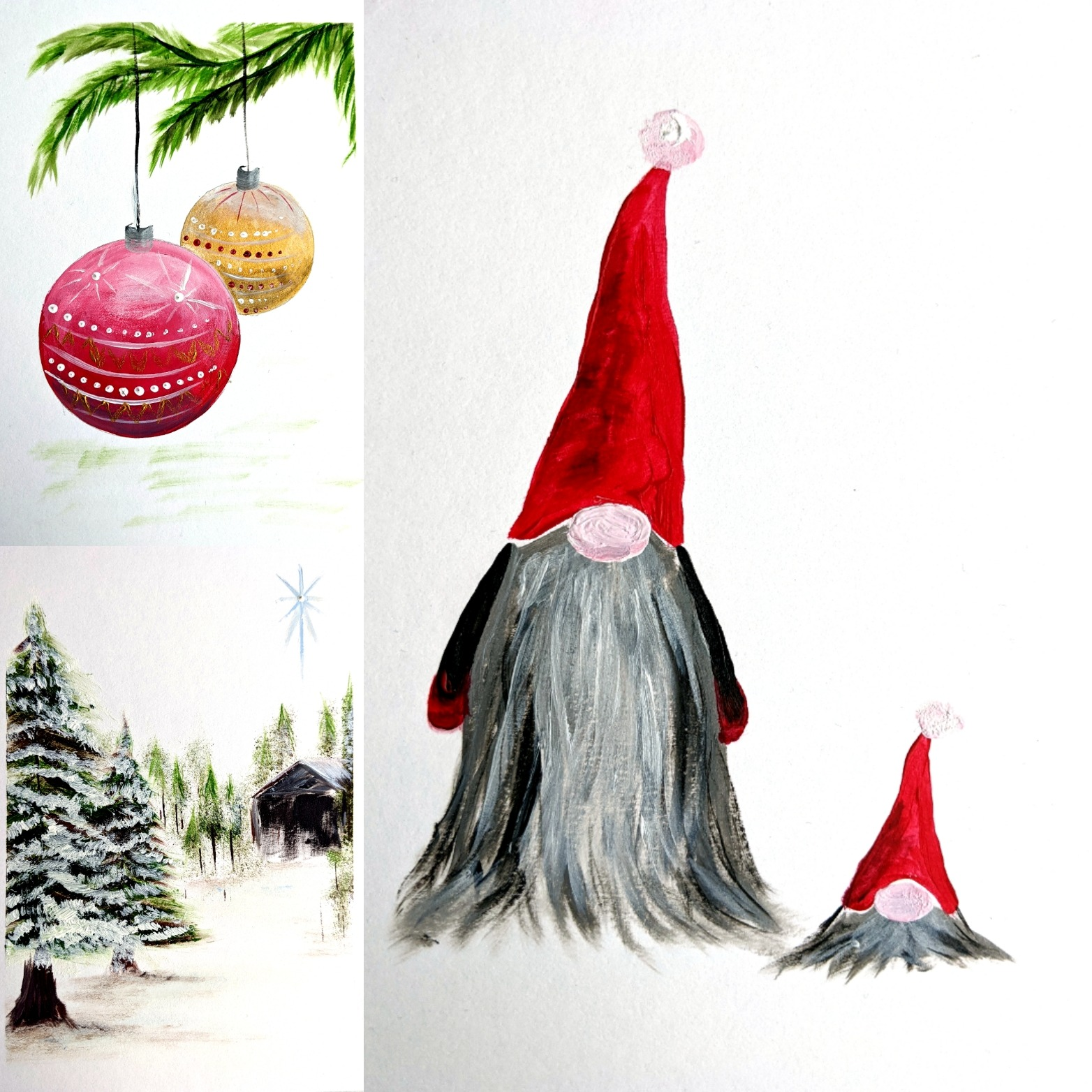 #125 - 12th November 2020 7pm - Christmas Card Collection - Scandinavian - nJoyArt ONLINE
