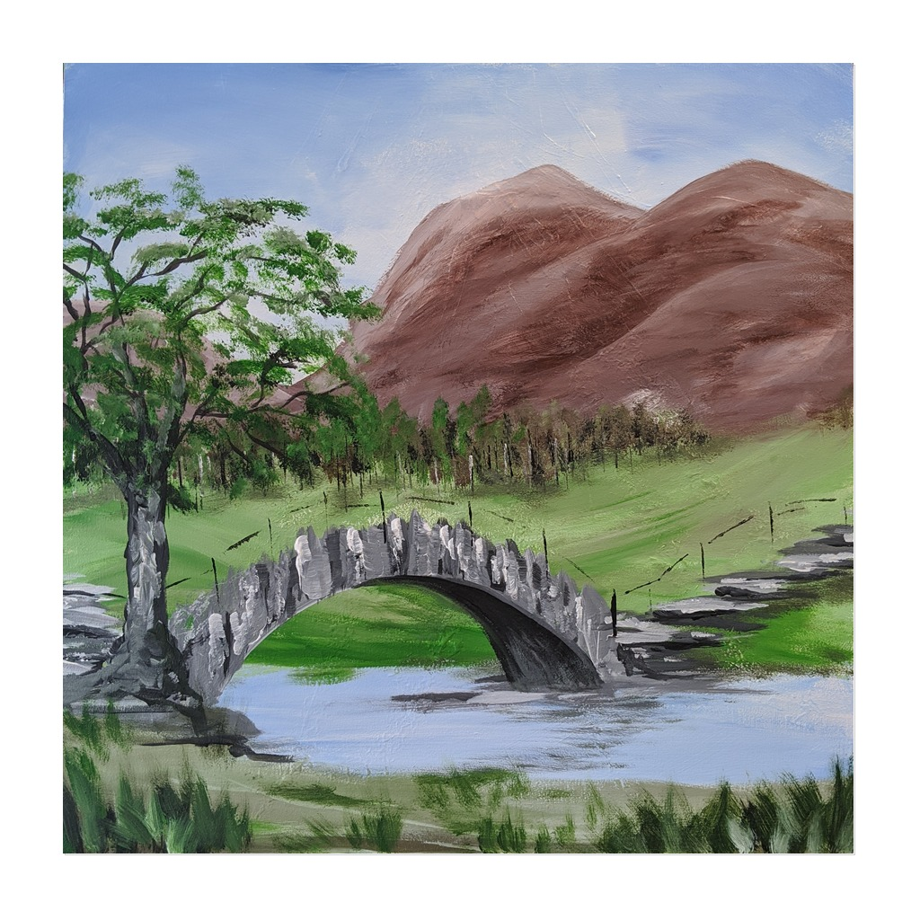 #188 - 13th May 2021 7pm - Slate Bridge - nJoyArt ONLINE Painting Session