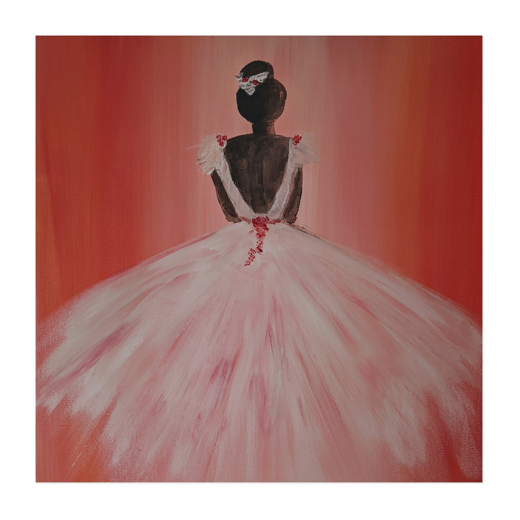 x #177 - 18th March 2021 7pm - Ballerina - nJoyArt ONLINE Painting Session