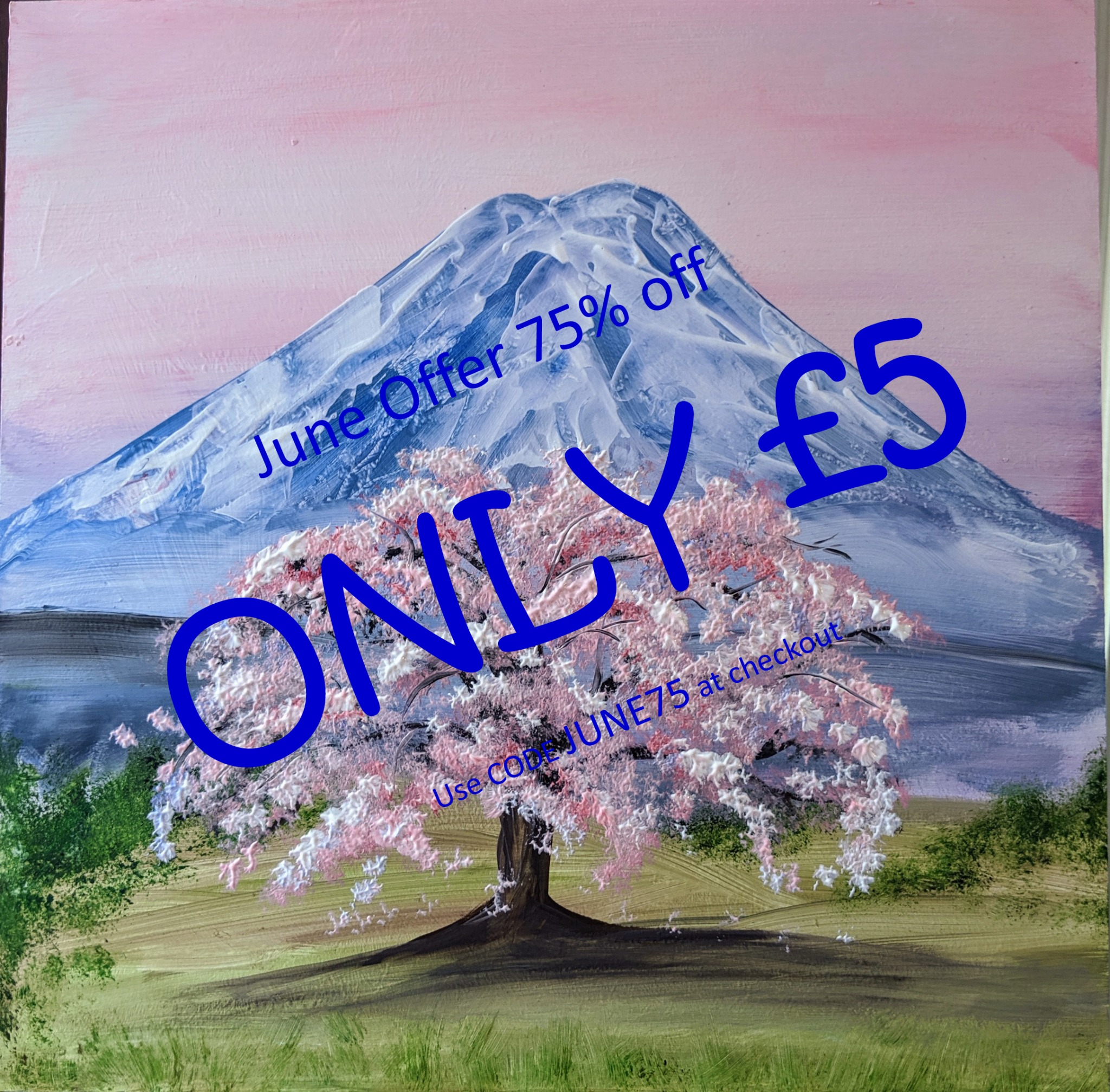 x 6th June 2020 10am - Blossom Tree Mountain - nJoyArt ONLINE Live Session