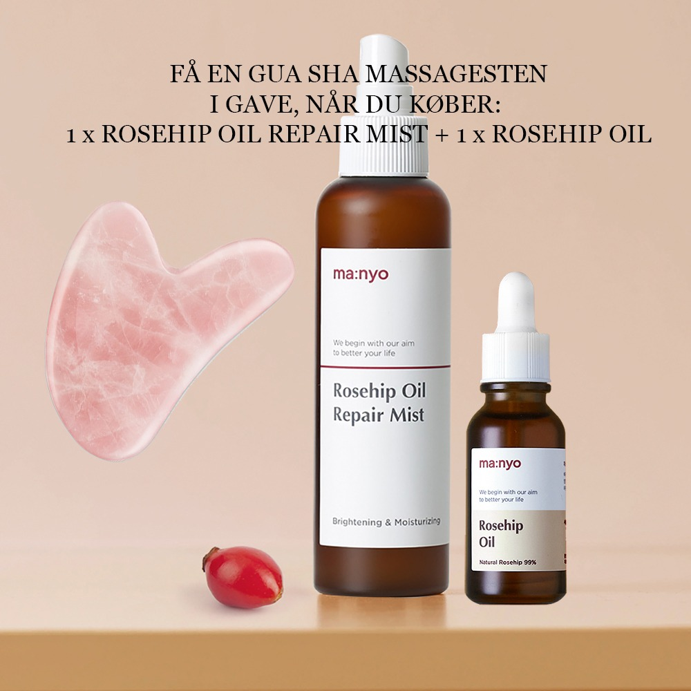MANYO ROSEHIP DUO: OIL MIST + OIL + GUA SHA (GAVE)