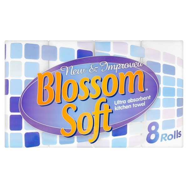 Blossom Soft Ultra Absorbent Kitchen Towel Pack of 8 Rolls