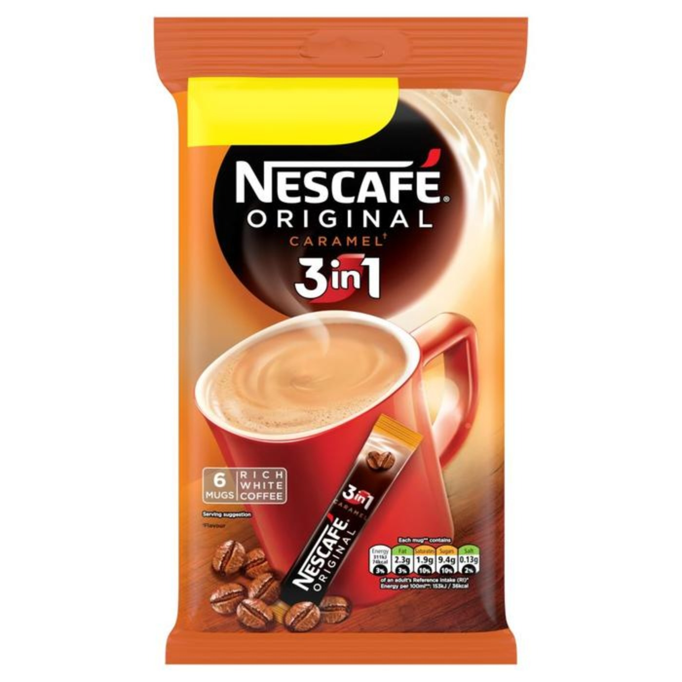 Nescafe Original Caramel Sachets 1x6 packs