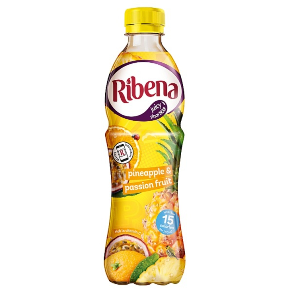 Ribena Pineapple & Passion Fruit Bottle 12x500ml