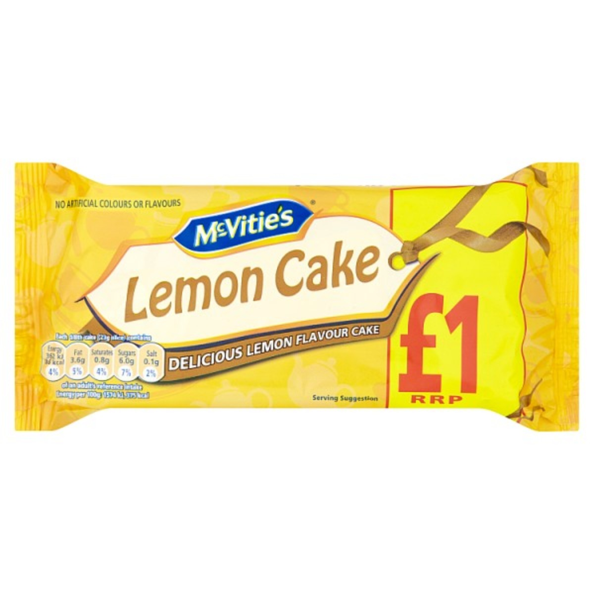 Mcvities Lemon Cake 1x185g