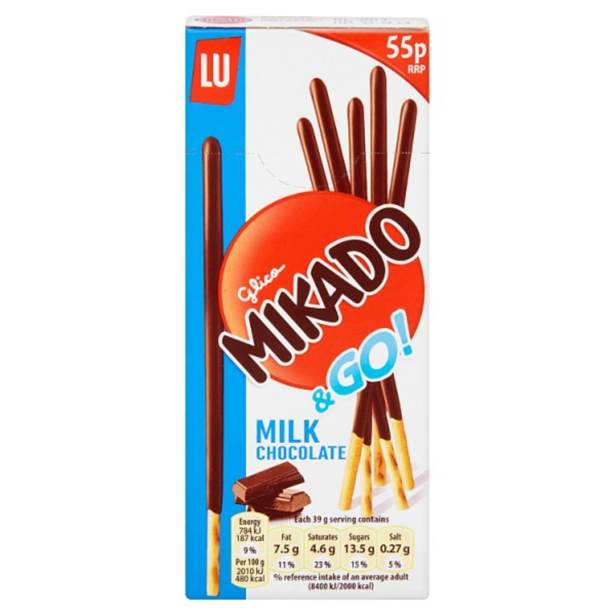 Mikado Milk Chocolate Biscuits 2x39g