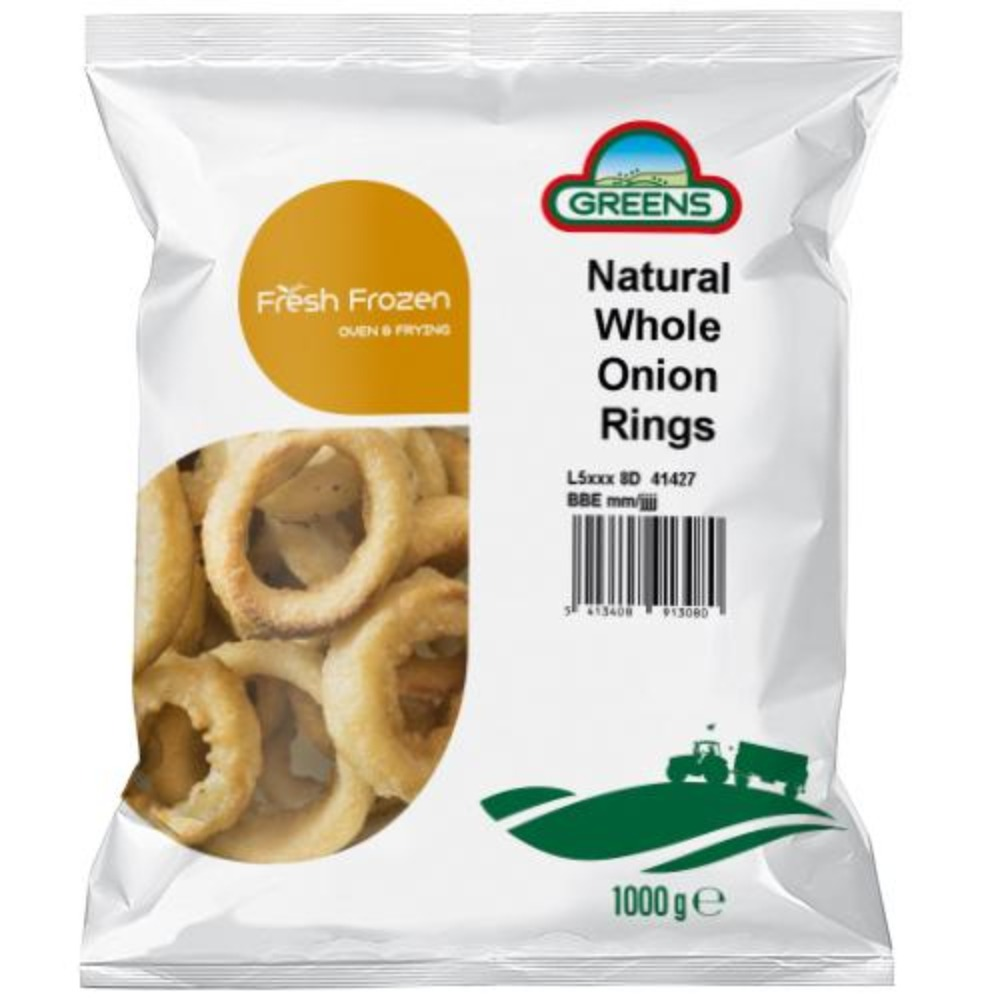 Natural Battered Onion Rings 1x1kg