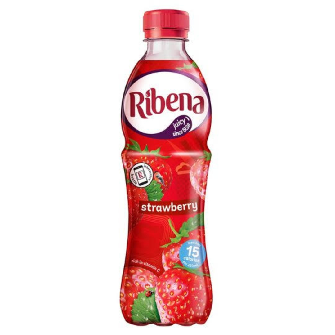 Ribena Strawberry Bottle 12x500ml