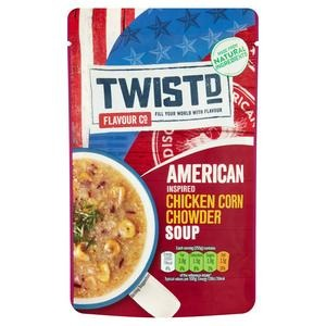 Twistd Flavour Co American Inspired Chicken Corn Chowder Soup 100g - 3 for £1