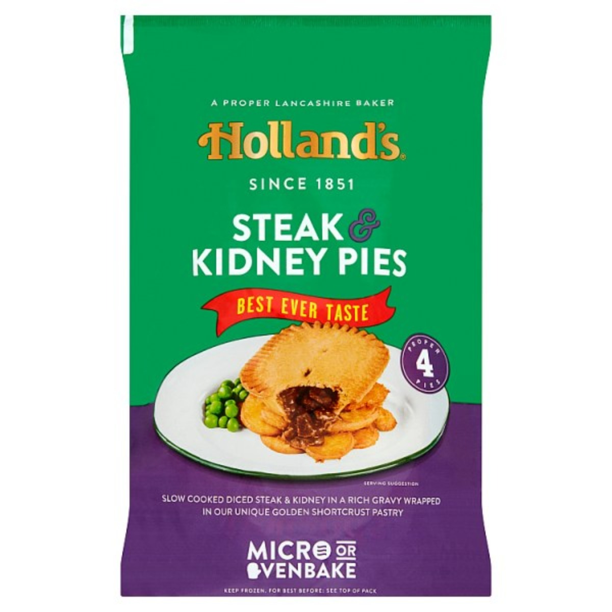 Hollands Steak & Kidney Pies 1x4