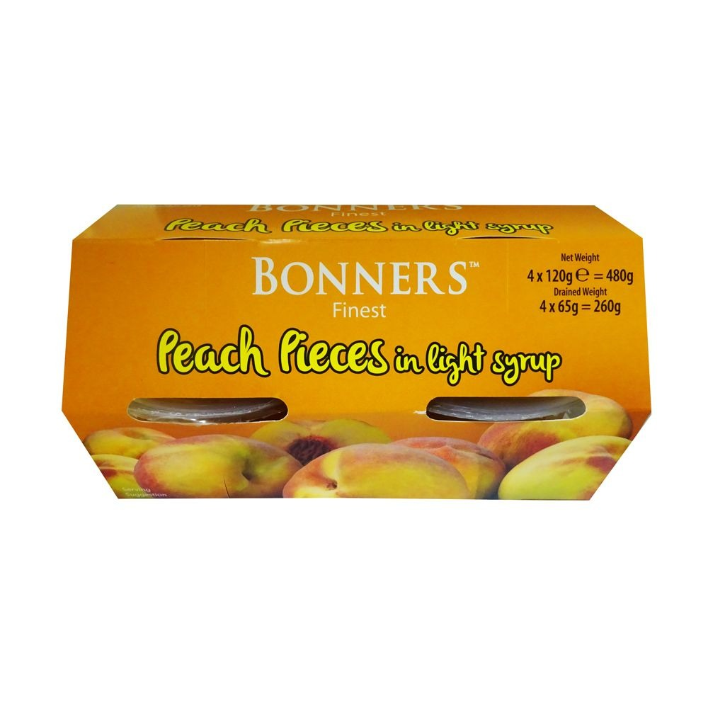 Bonners Peach Pieces In Light Syrup 4 Pack