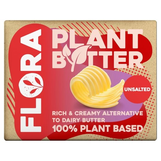 Flora Plant Butter Unsalted 250g - 3 blocks for £1