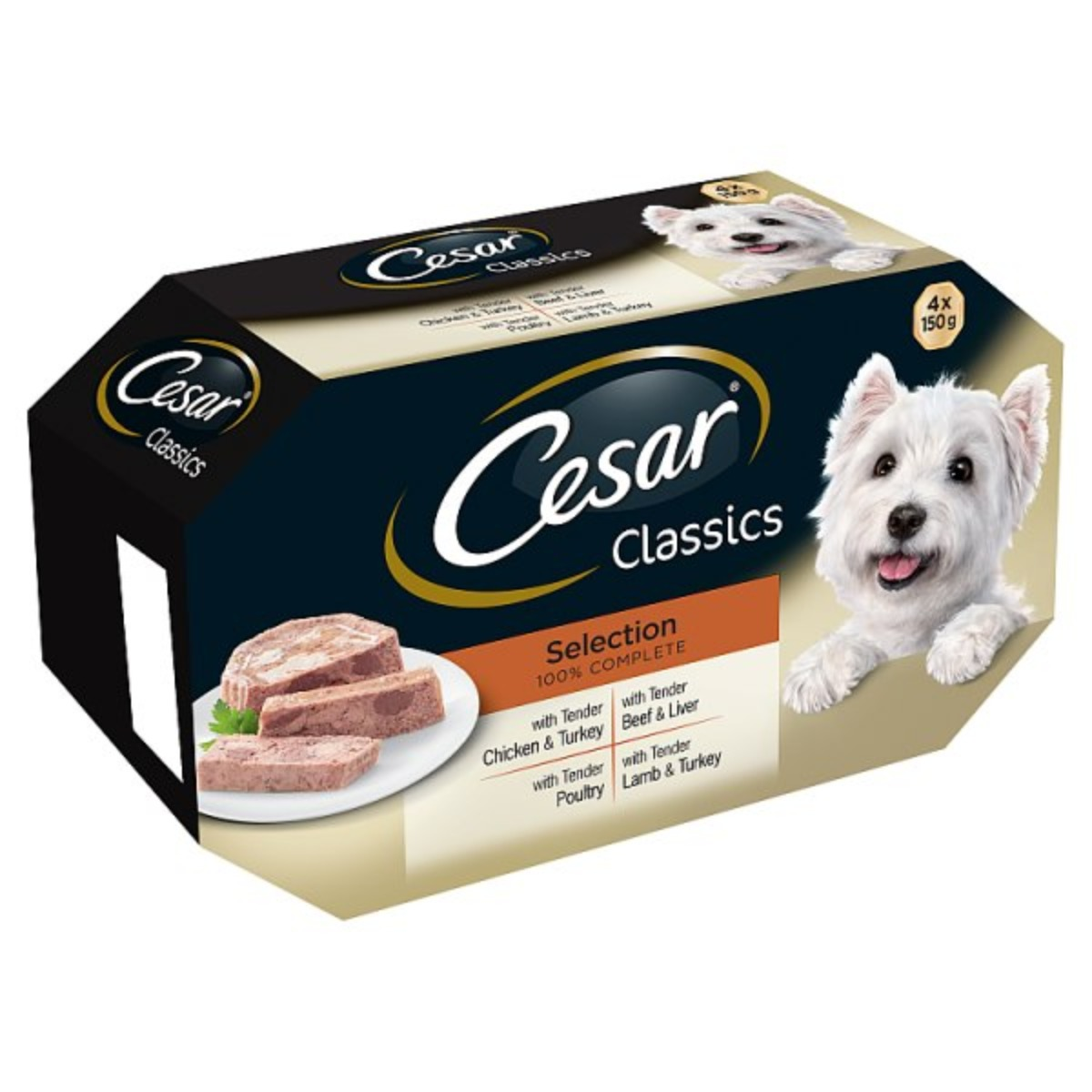 Cesar Assorted Wet Dog Food Selection 4x150g