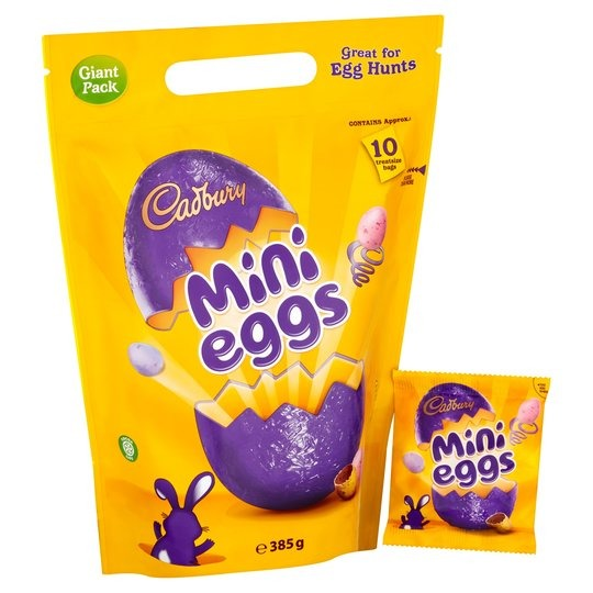 Cadbury Mini Eggs Pouch 385g  (10 Mini Bags)