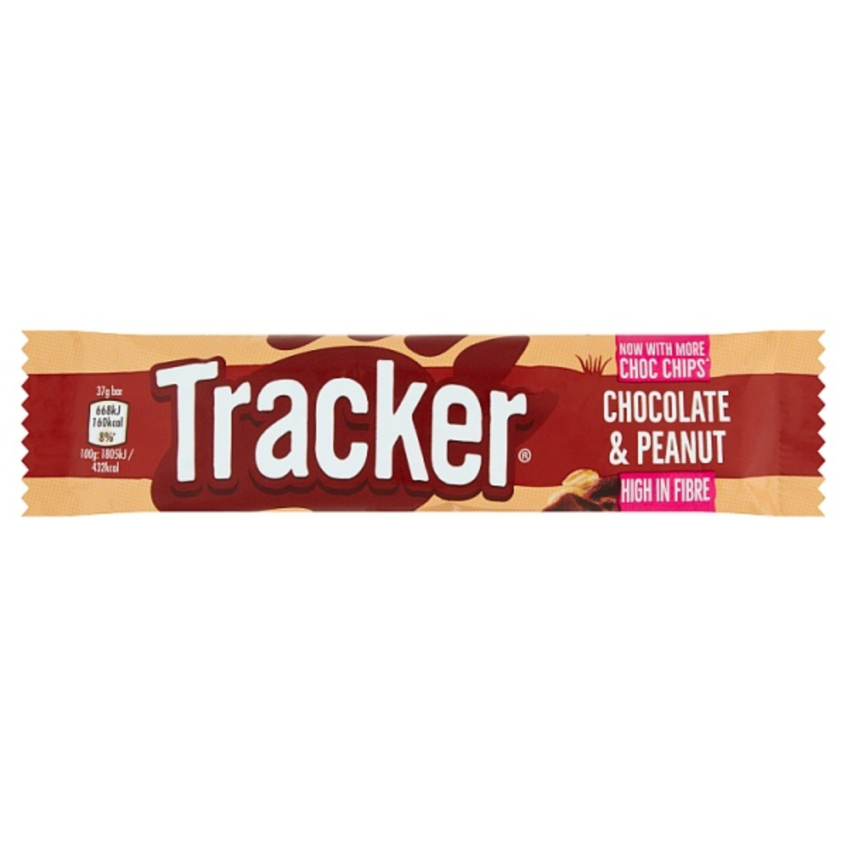 Tracker Chocolate & Peanut Bars 2x37g
