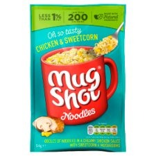 Mugshot Chicken & Sweetcorn Noodles 54G (3 for £1)