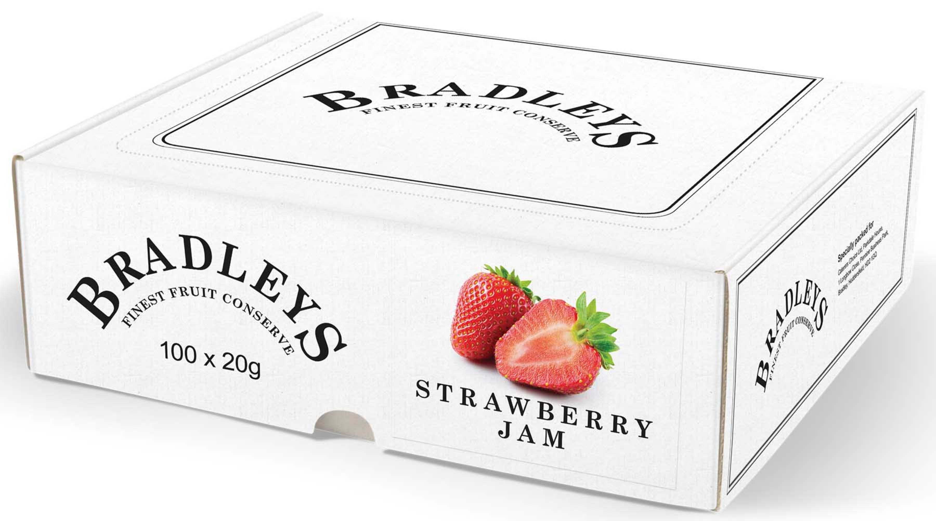Bradleys Strawberry Jam Portions 1x100