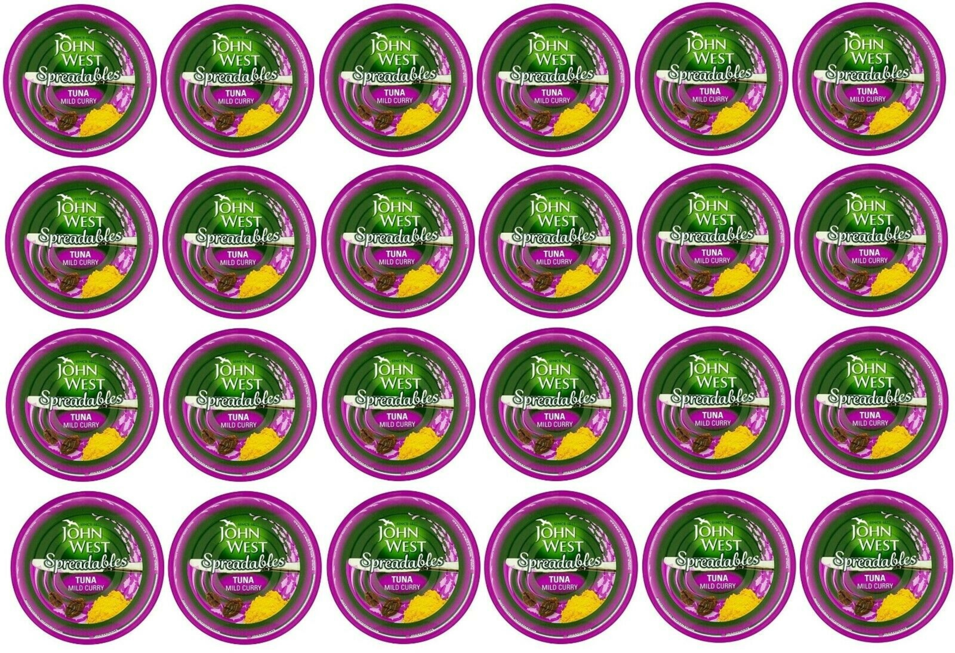 John West Spreadables Tuna - Mild Curry 3x80g