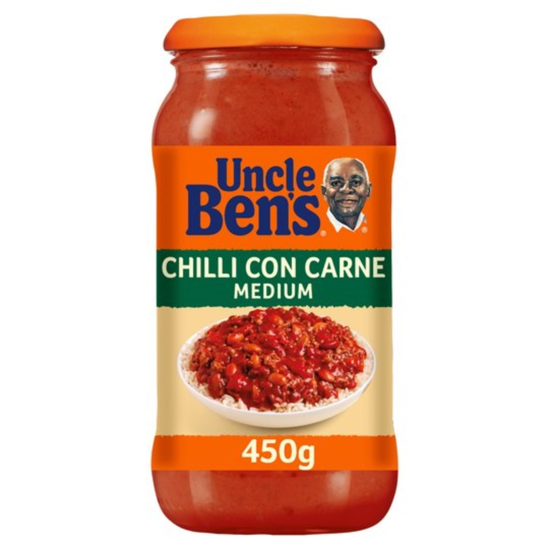 Uncle Bens Medium Chilli Con Carne 1x450g