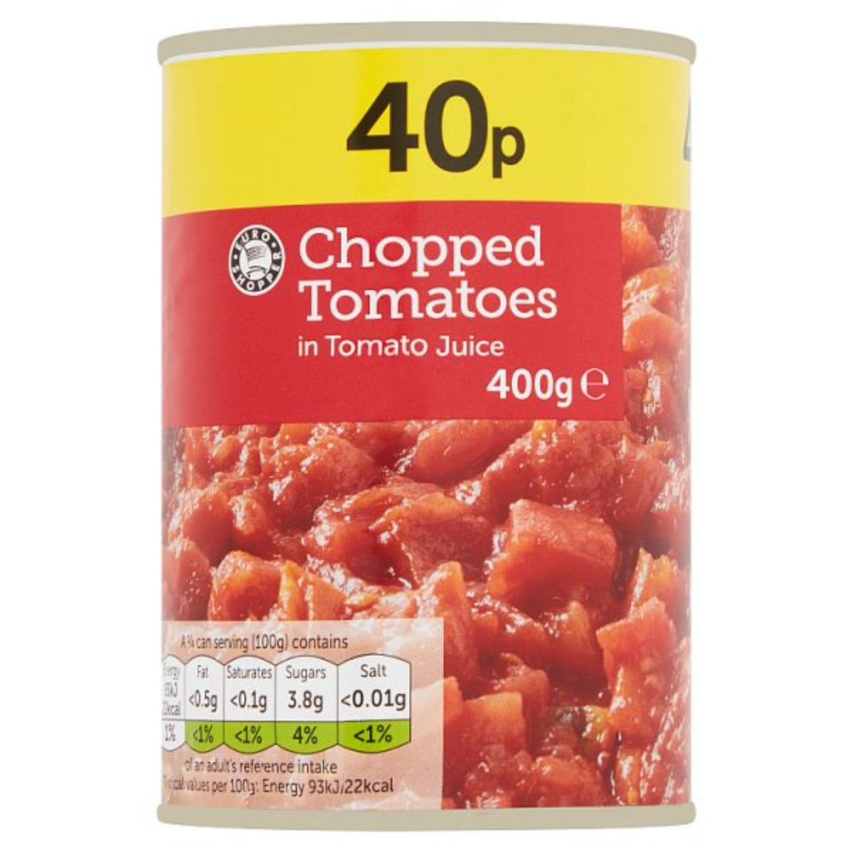 Euro Shopper Chopped Tomatoes 2x400g