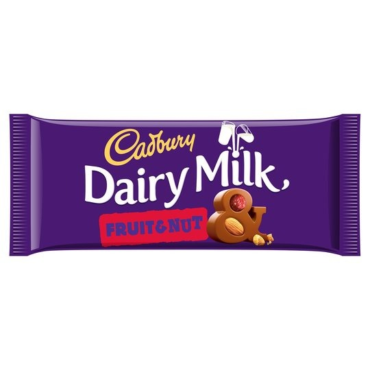 Cadburys Dairy Milk  Fruit & Nut Chocolate Bar 1x95g