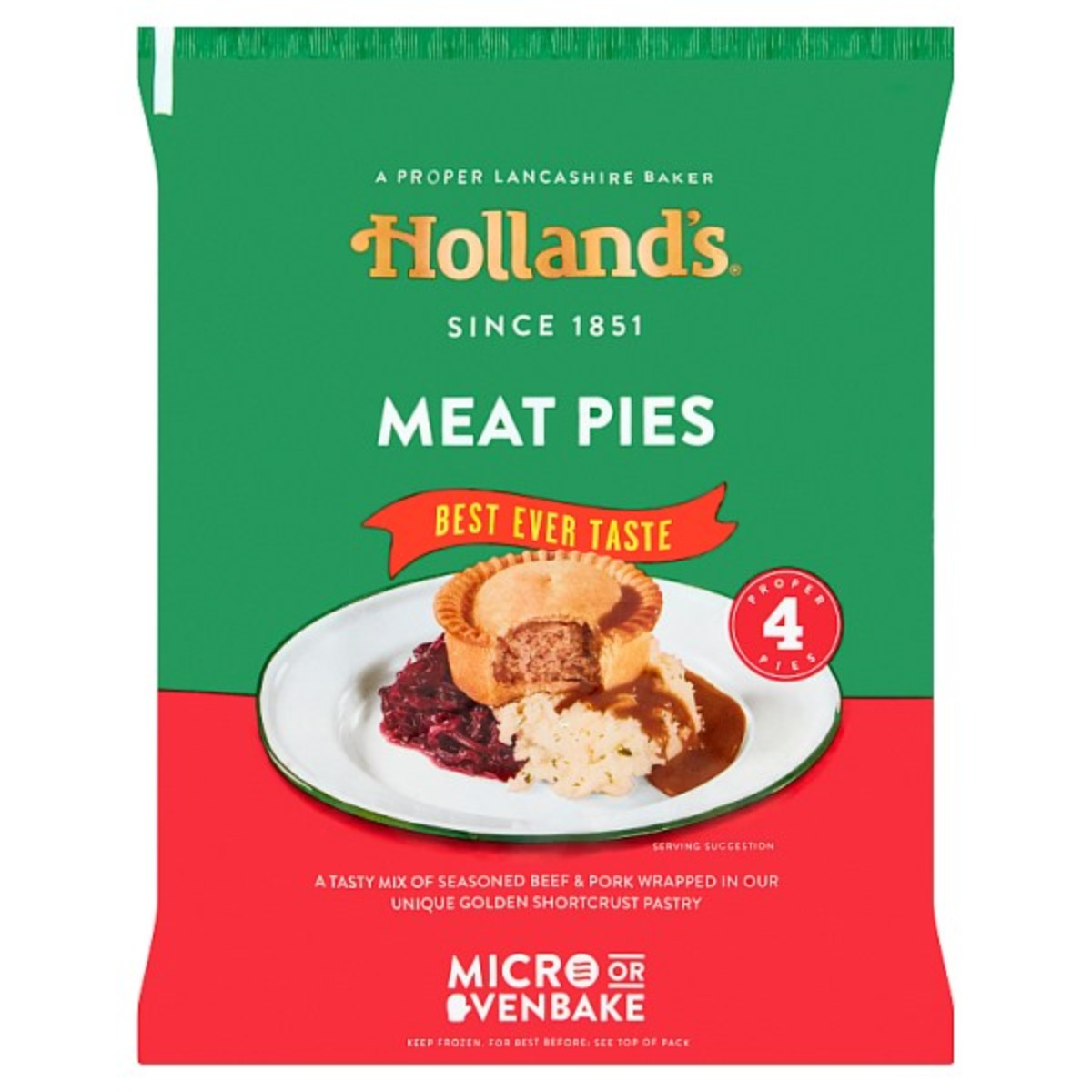 Hollands Meat Pies 1x4