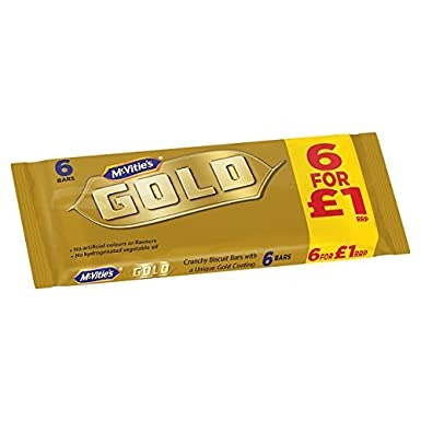 McVities Gold Bar 6 Pack