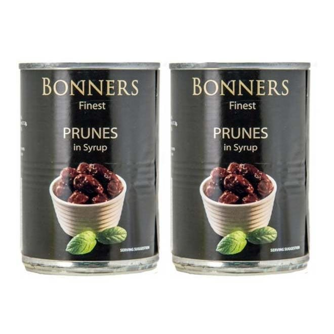 Bonners Prunes in Syrup 2x290g - 2 for £1