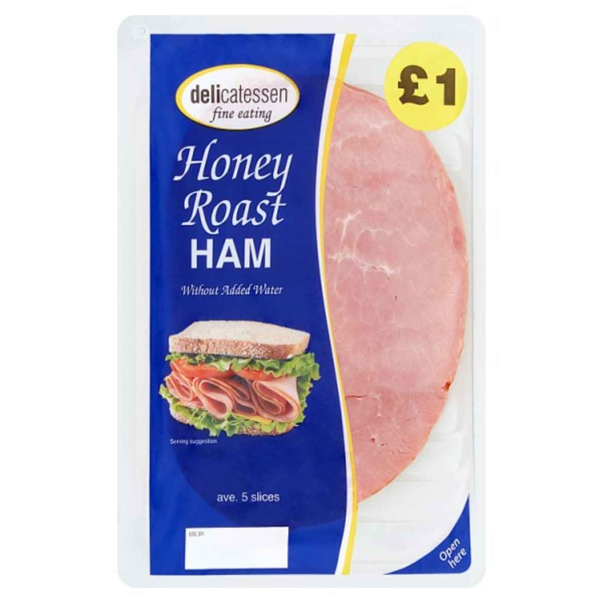 Honey Roast Ham 5 slices 1x90g