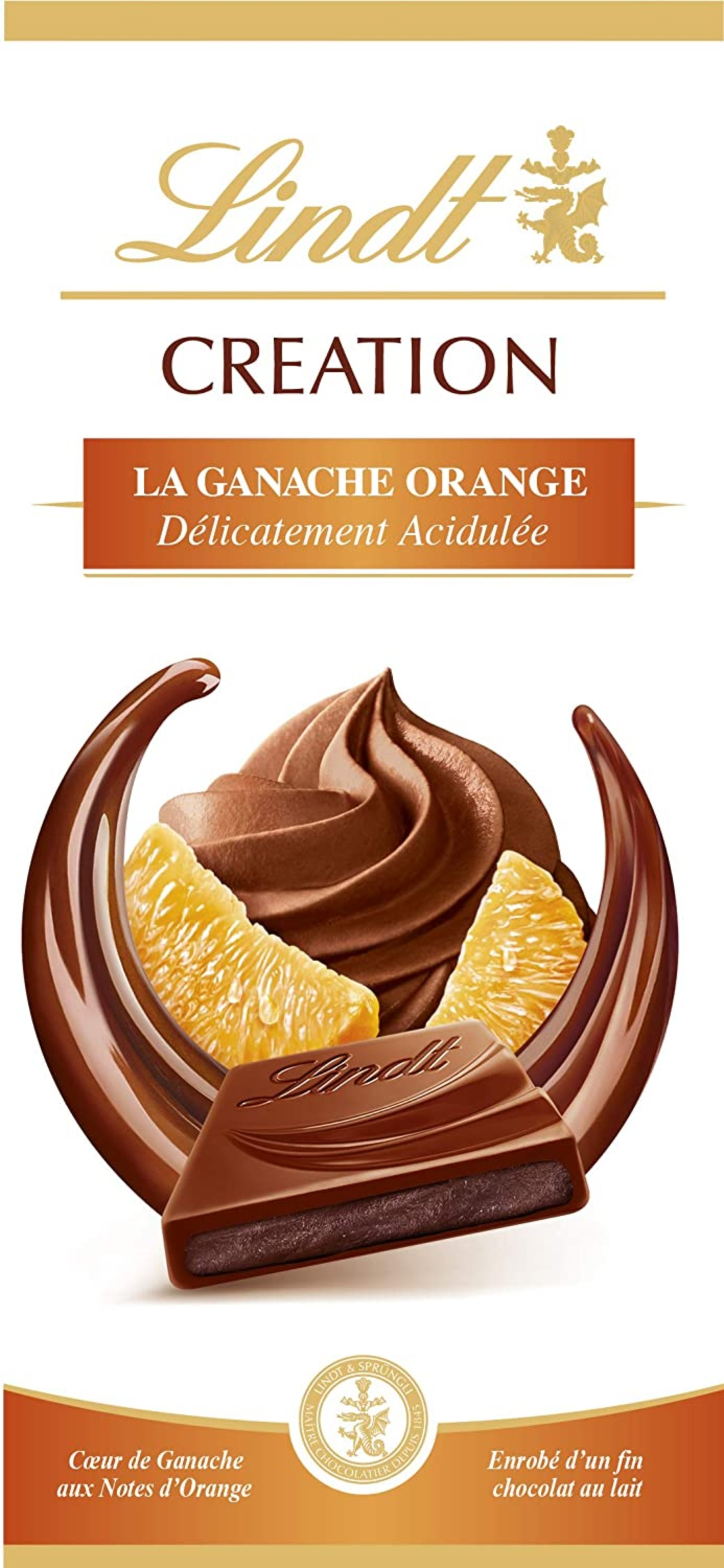 Lindt Chocolate Orange Ganache Bar 1x150g