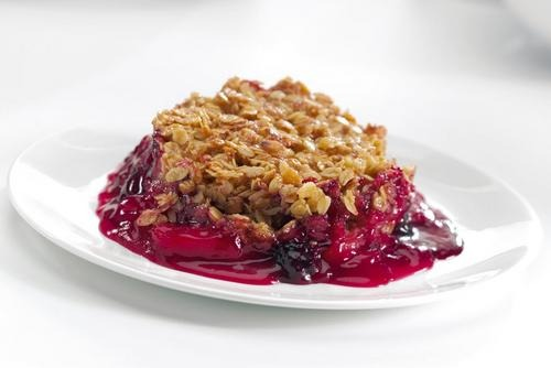 Apple & Blackberry Flapjack Crumble 1x18