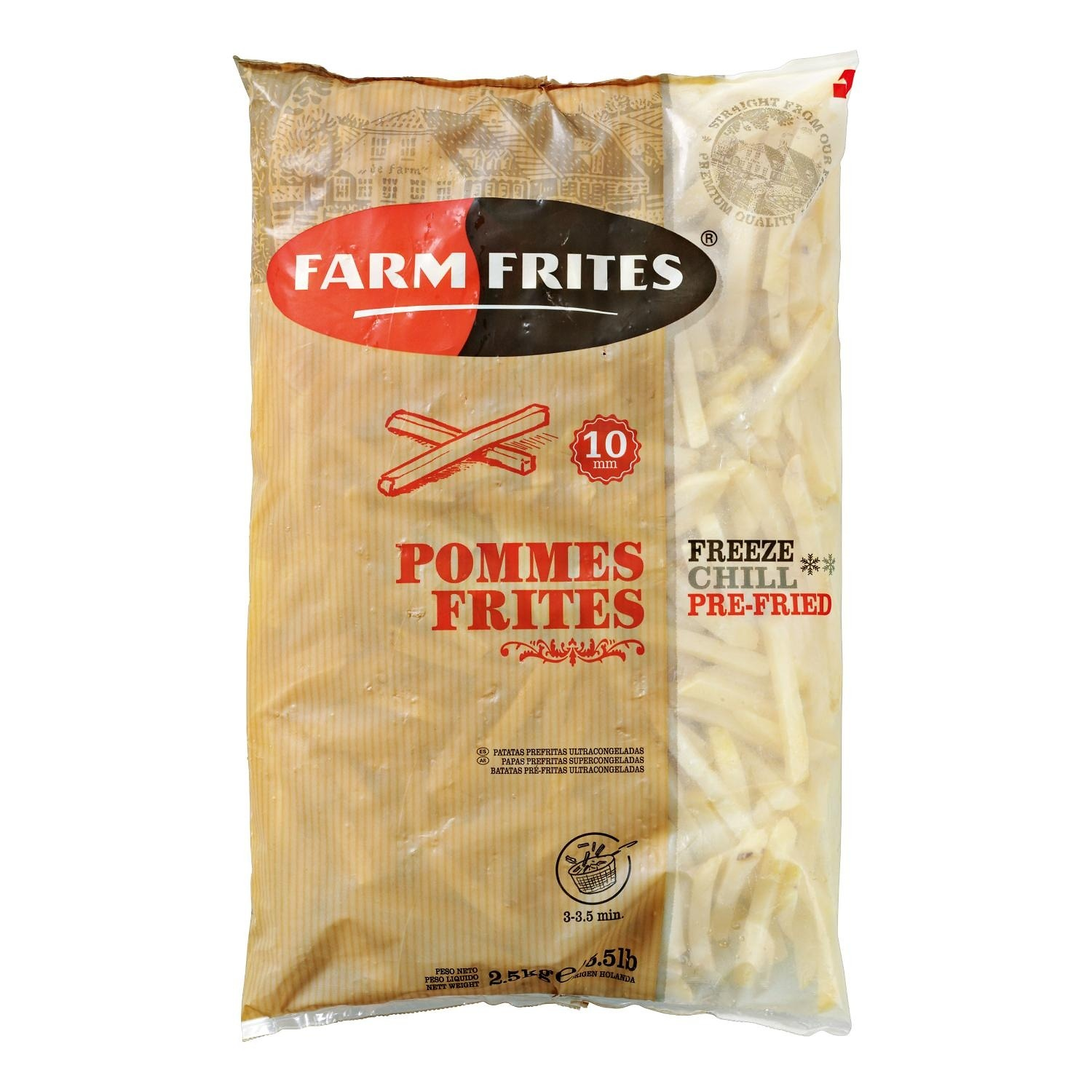 Farm Frites 10mm Fries Case of 6 bags x2.5kg (15kg)