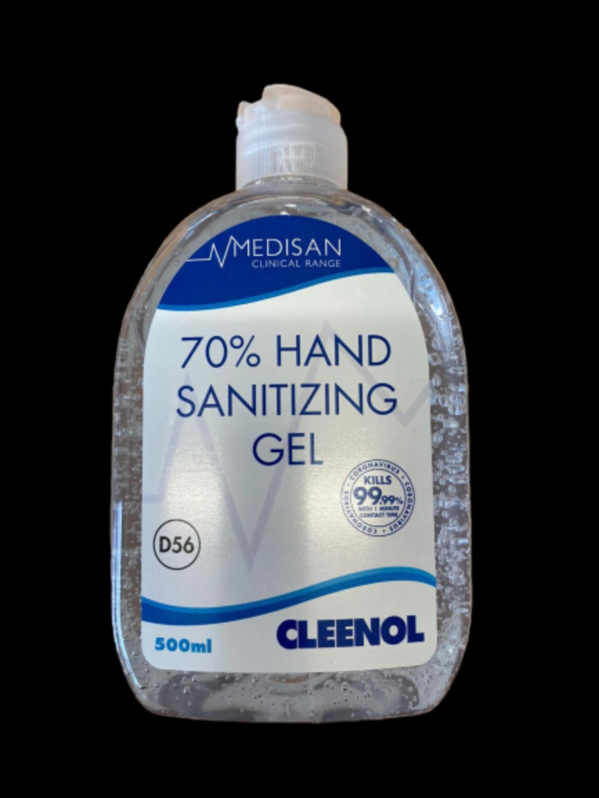 Hand Sanitising Gel 70% 1x500ml