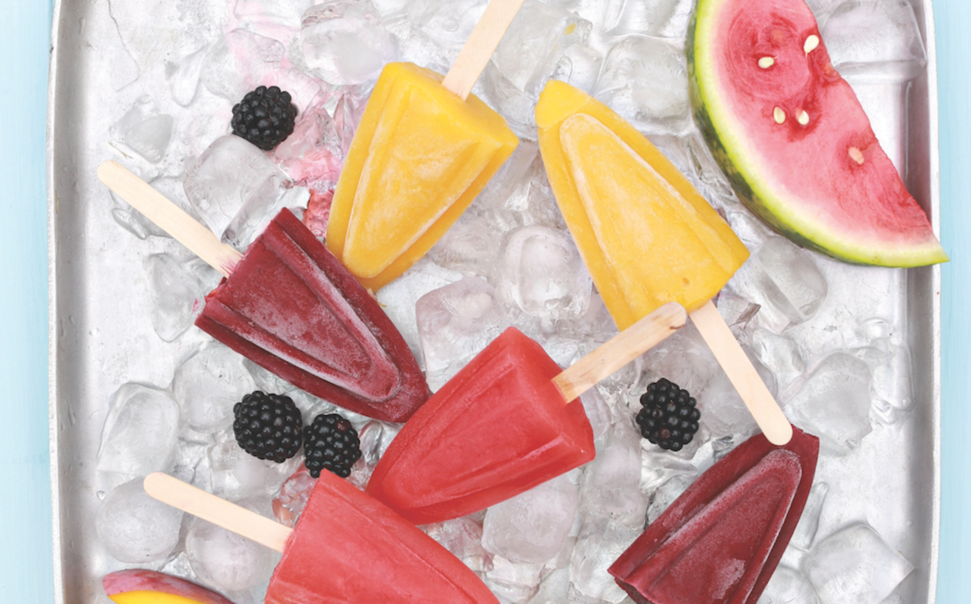 Assorted Fruit Ice Lollies 1x6