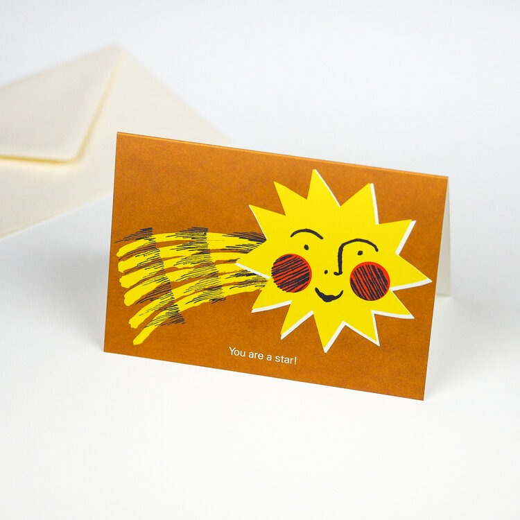 Bundle of four greeting cards by Hadley Paper Goods