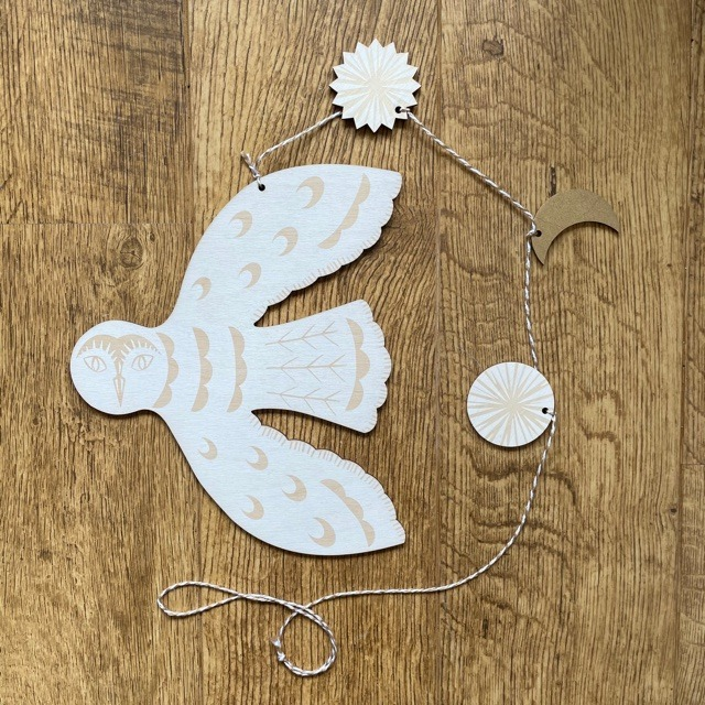 Hanging Solstice Owl by Kate Millbank