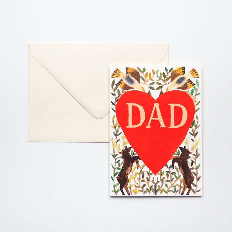 Father's Day Heart Card by Hadley Paper Goods