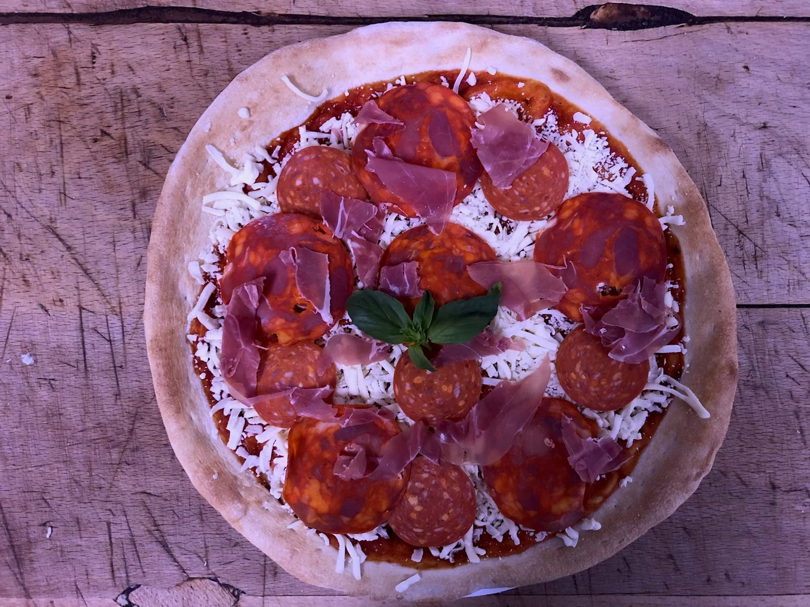 """Slater's Home Made Sourdough Pizza - The Maiale Troia """"The Slutty Pig"""""""