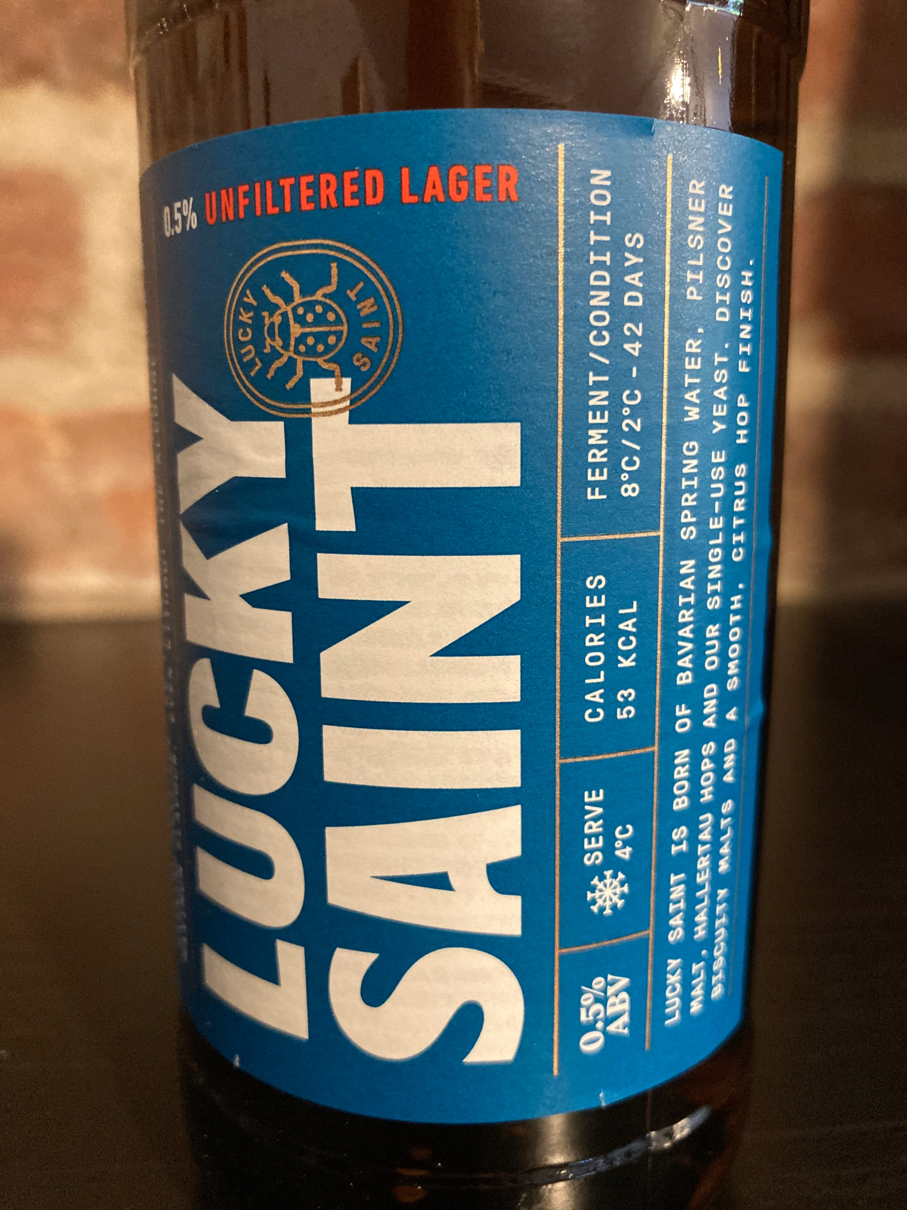 Lucky Saint Unfiltered Lager 33cl