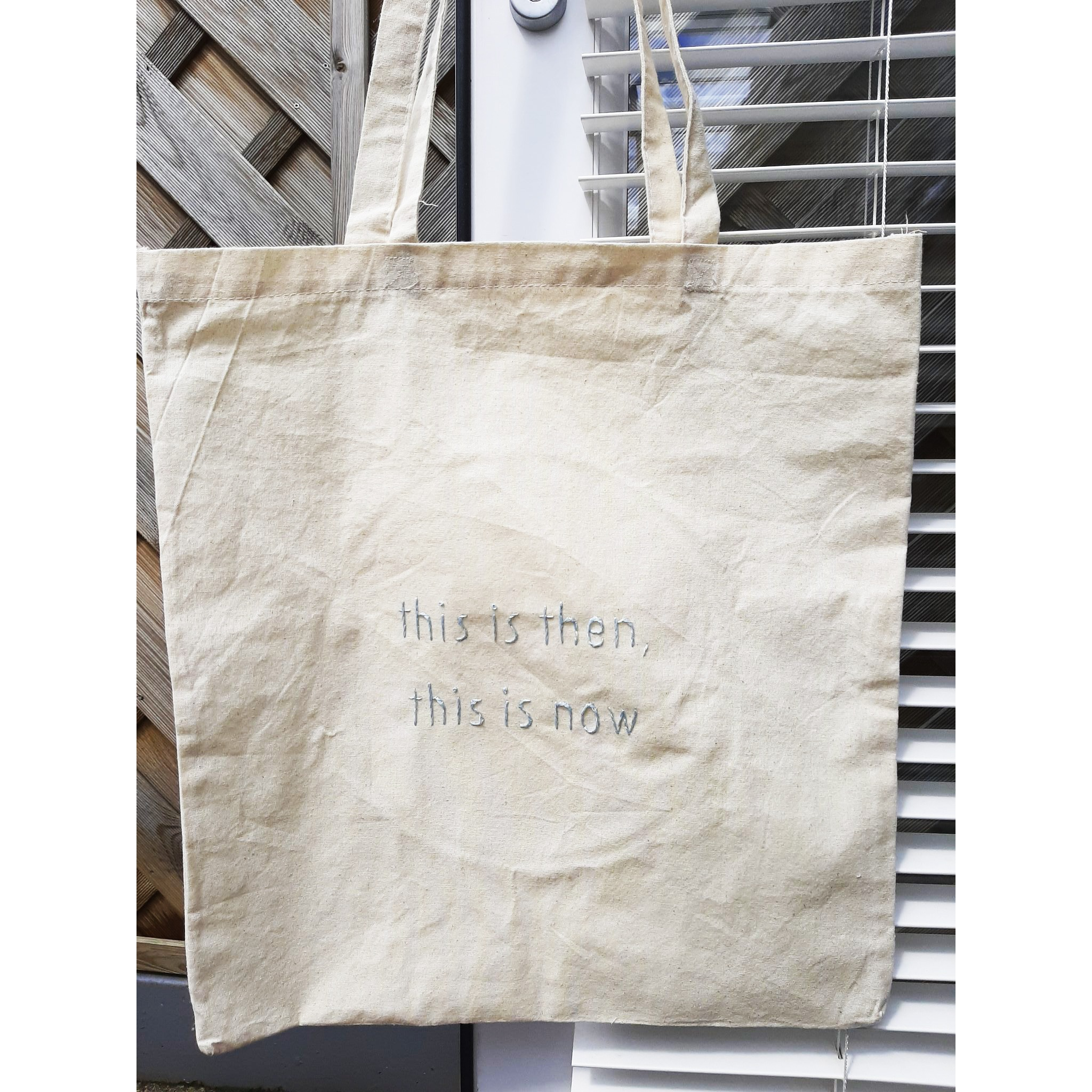 """This Is Then, This Is Now"" - Tote Bag ONLY 1 REMAINING"