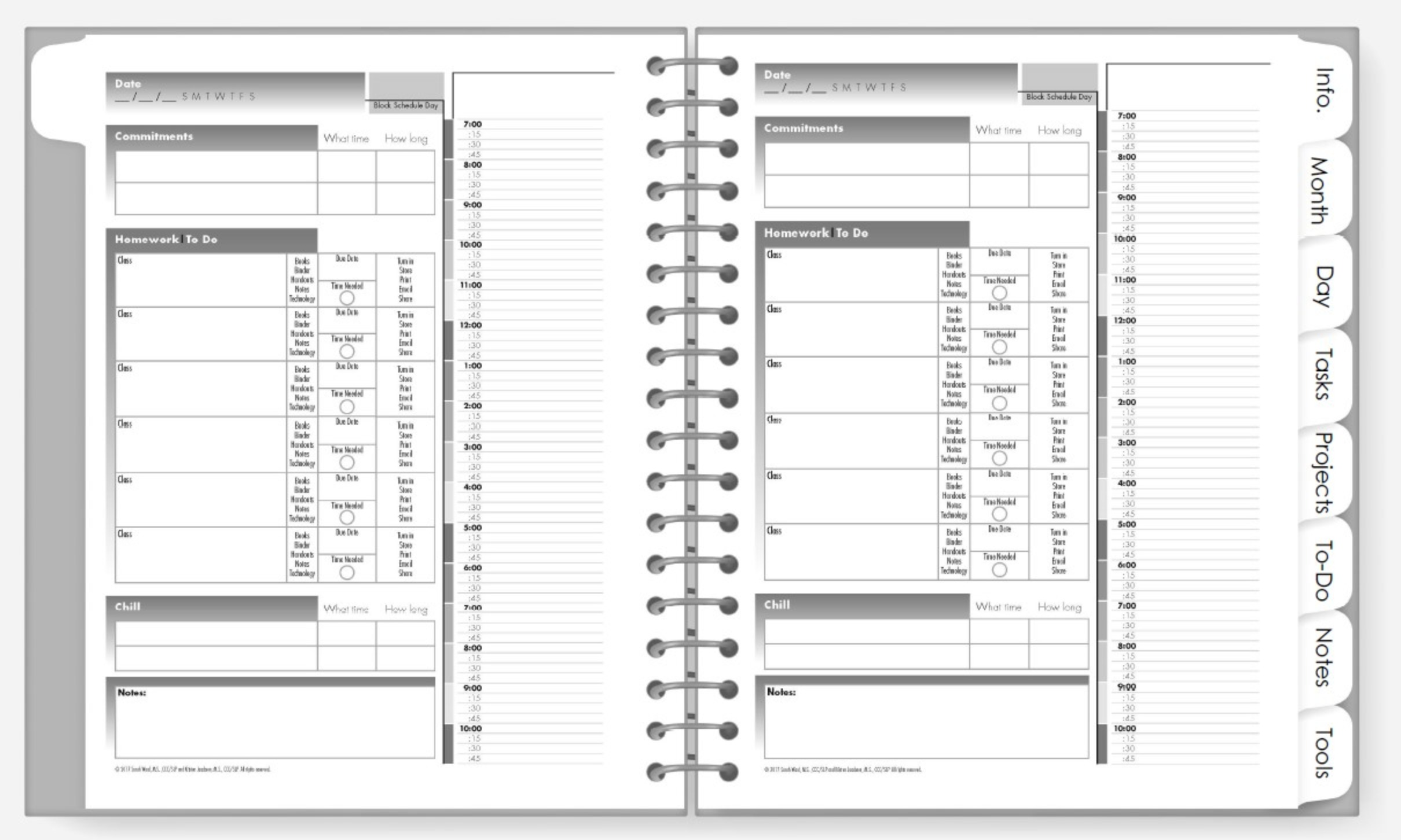 Digital Academic Planner for iPad or Tablet