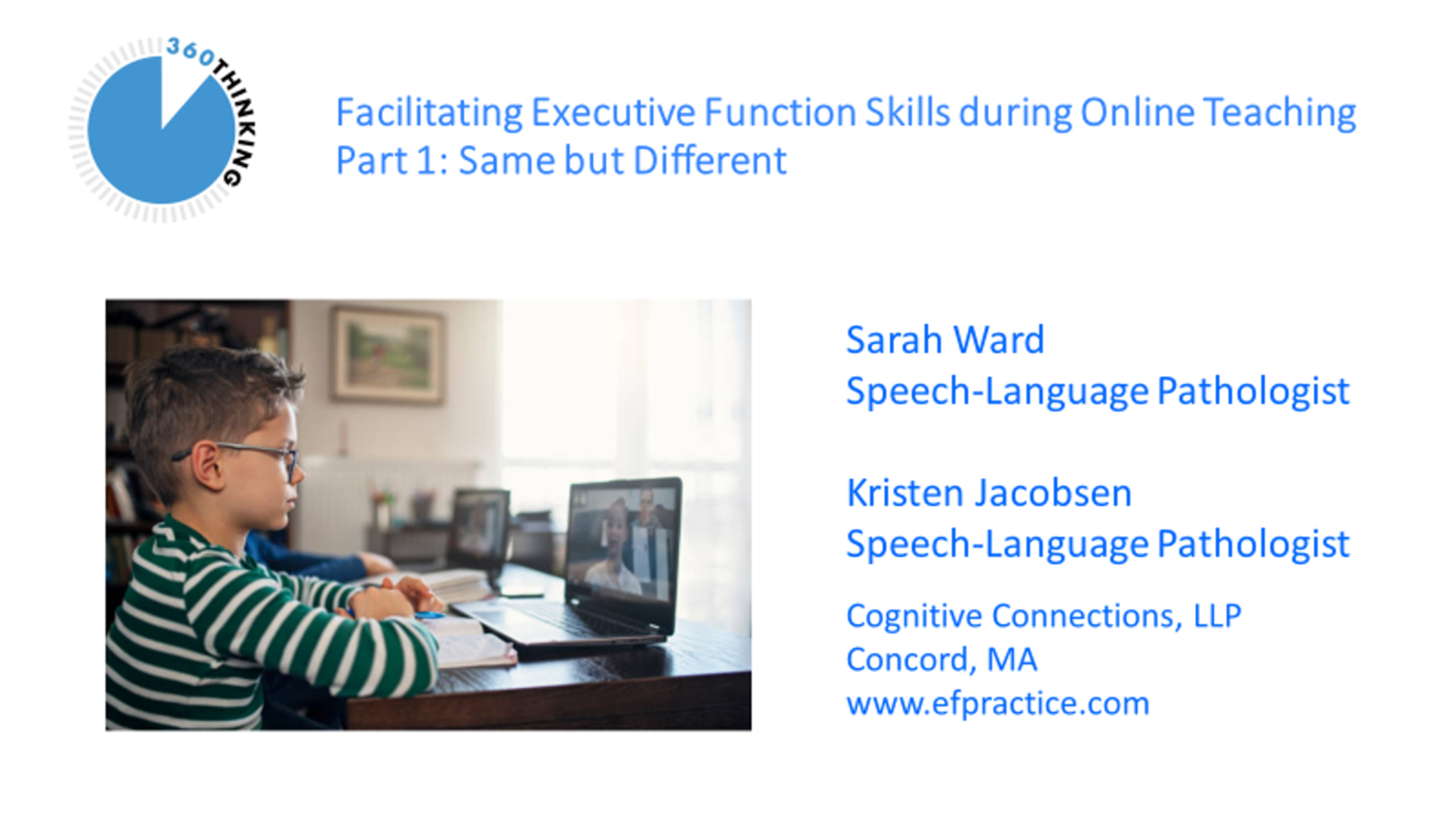 Facilitating Executive Function Skills during Online Teaching