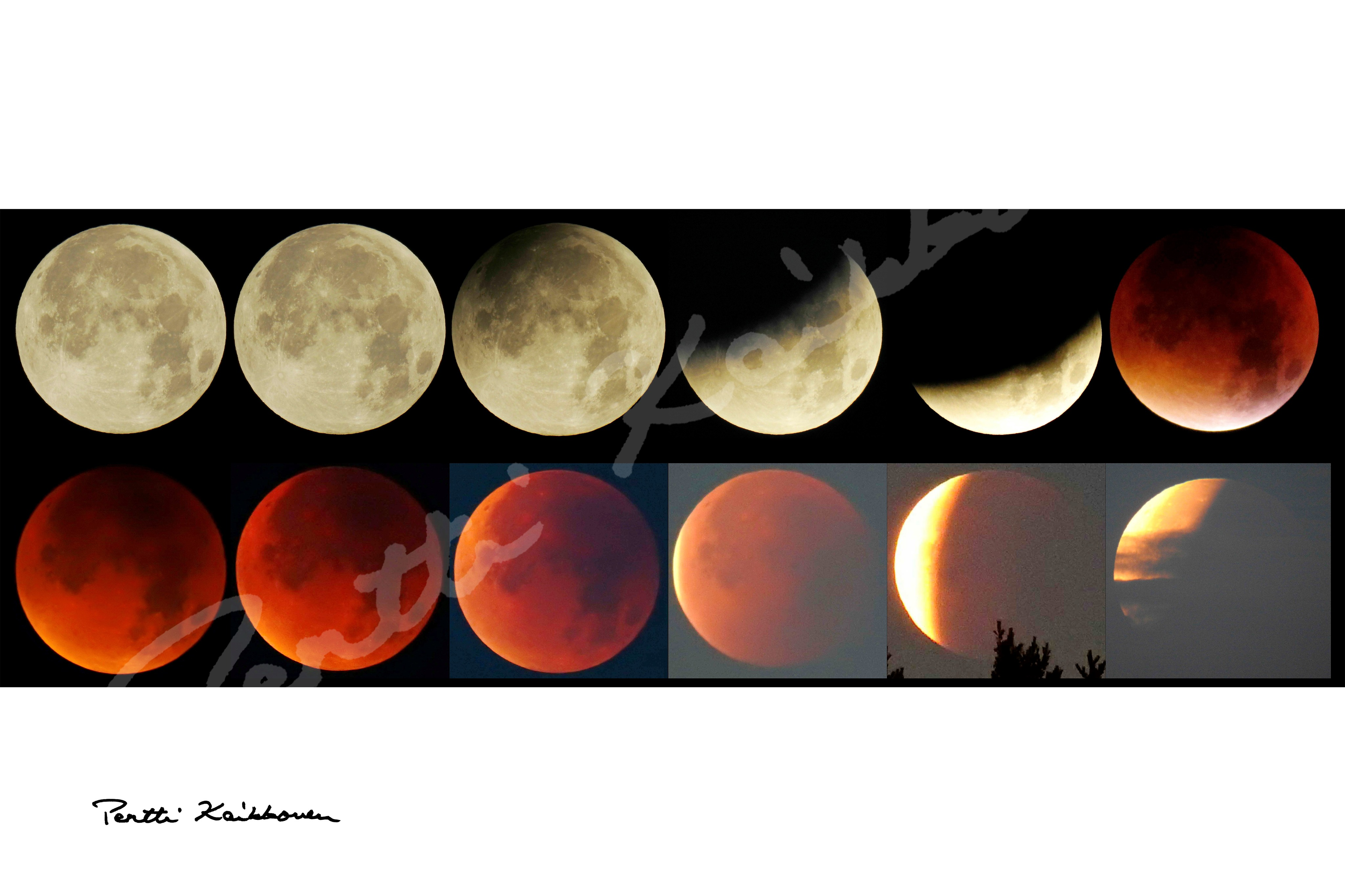 03. Kuunpimennys ja superkuu -The Supermoon Lunar Eclipse, kuvatiedostot - digital picture files