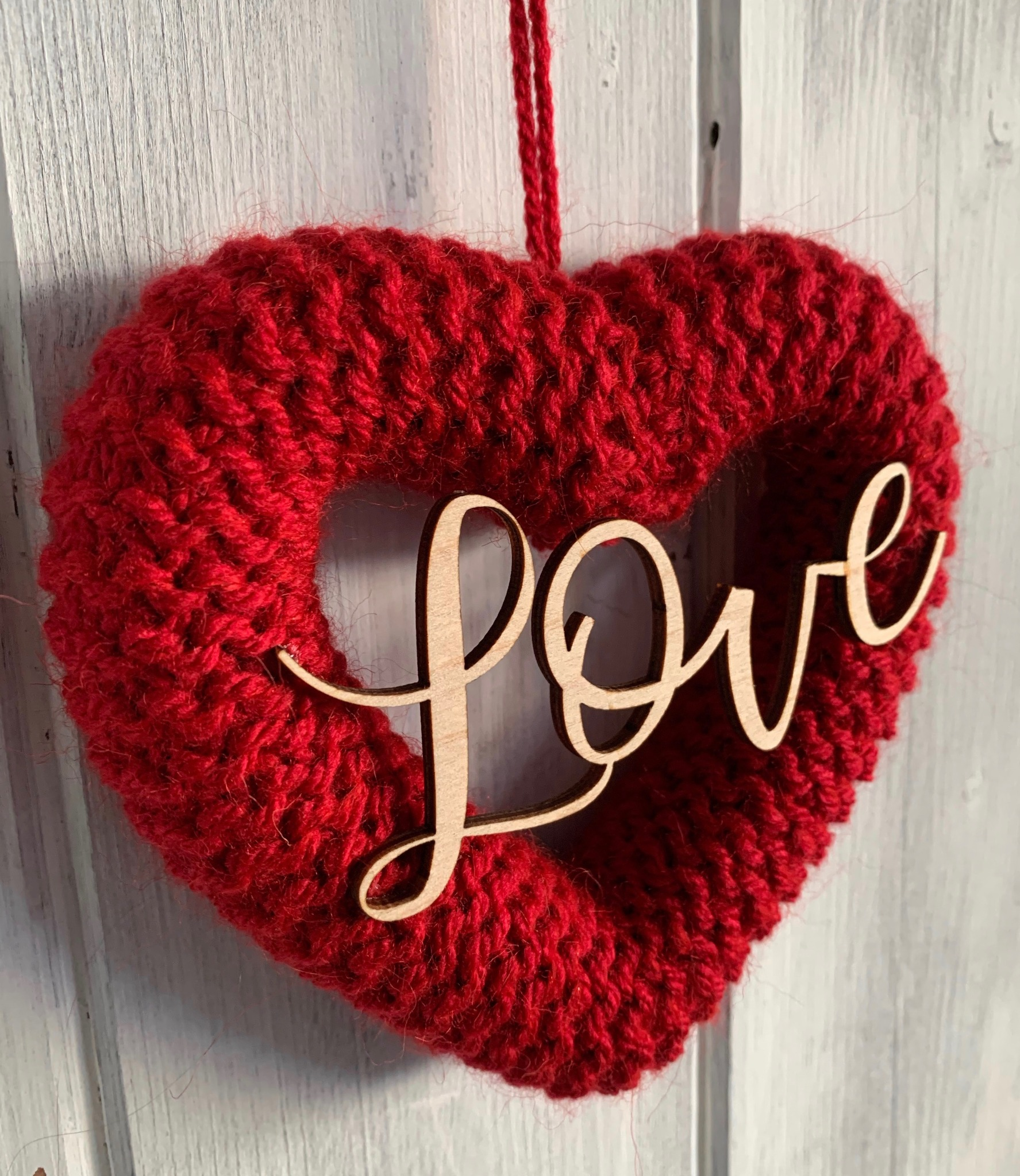 Hand Knitted Love Heart