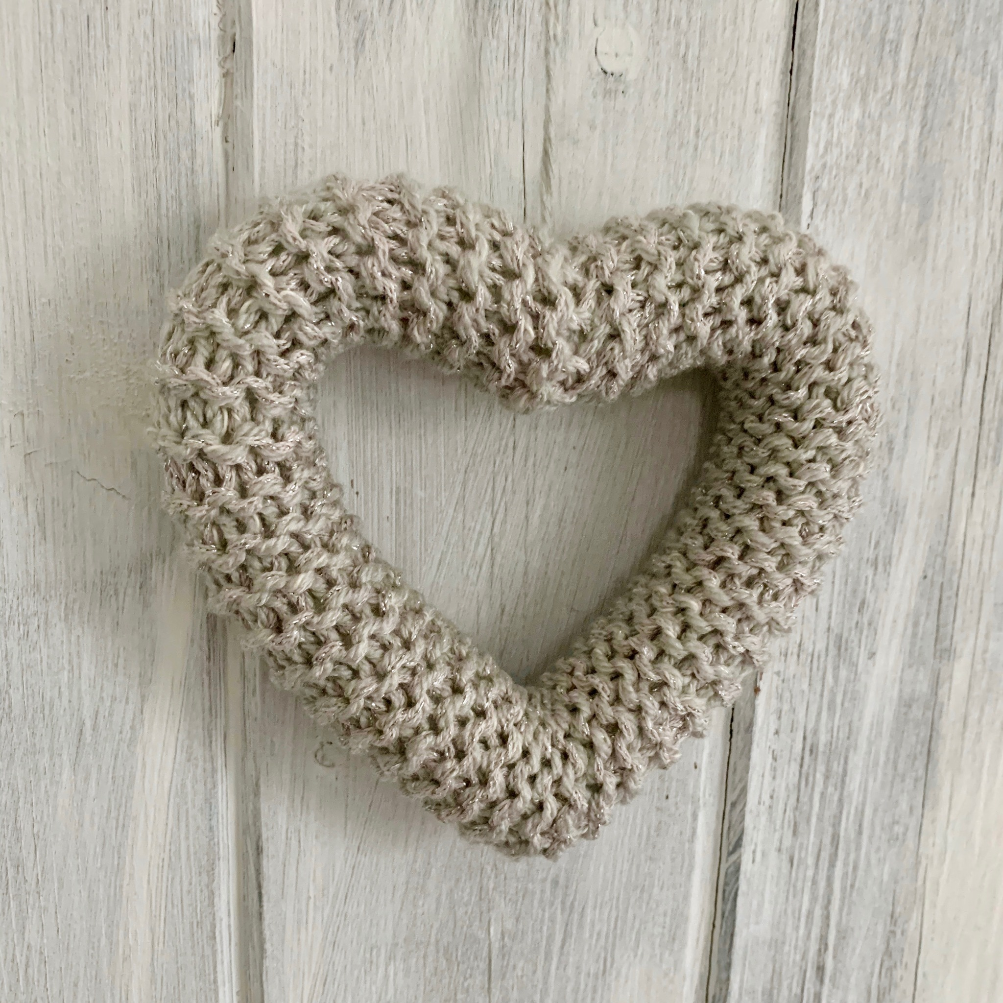 Hand Knitted Hearts Gold and Silver Collection