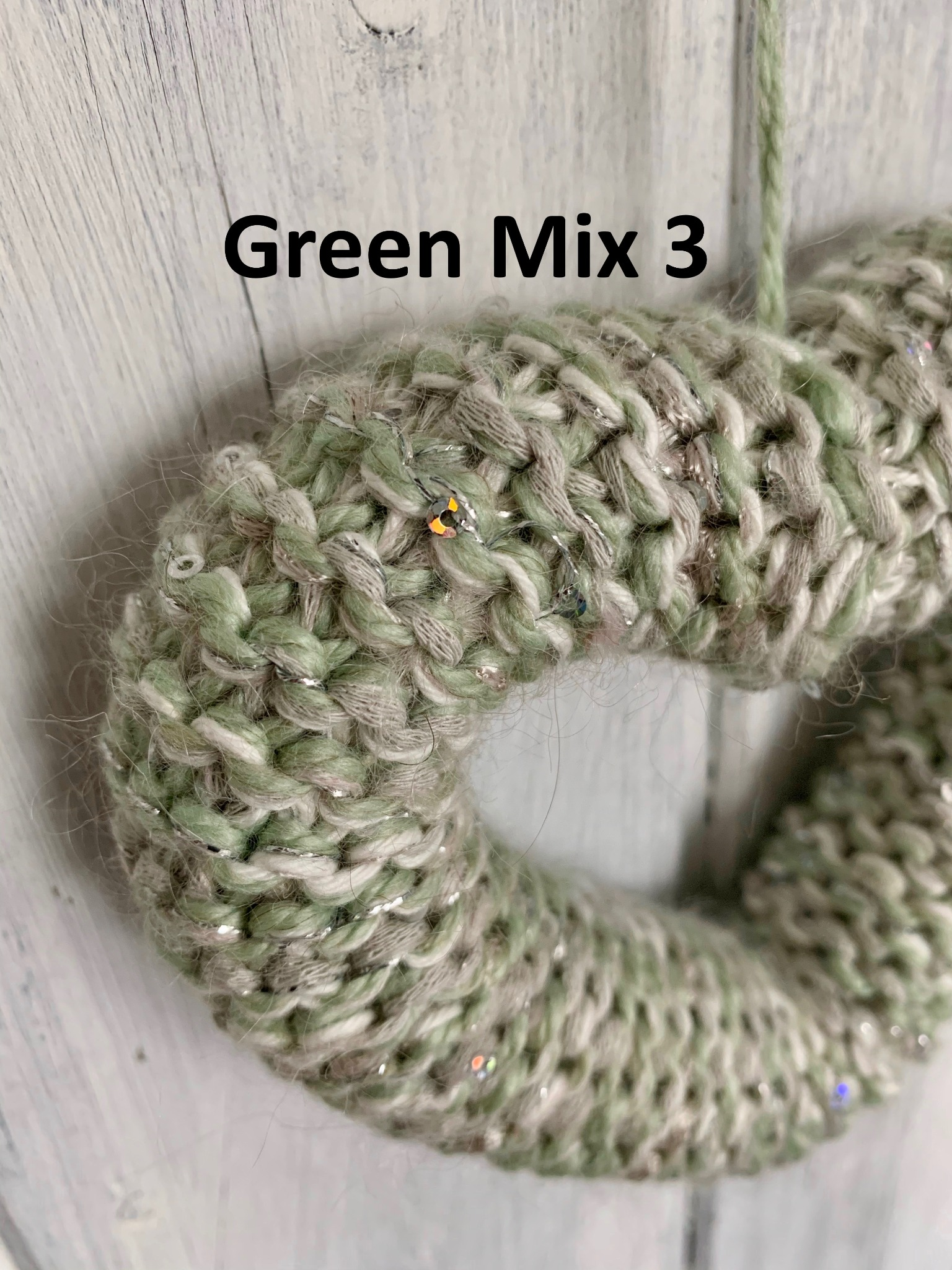 Hand Knitted Hearts Mixed Greens Collection